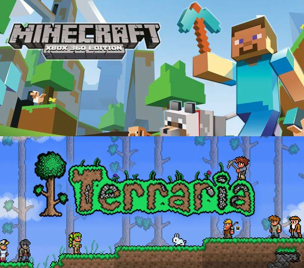 Games like Minecraft and Terreria depend upon their open-ended mechanics to let you create your own narrative.