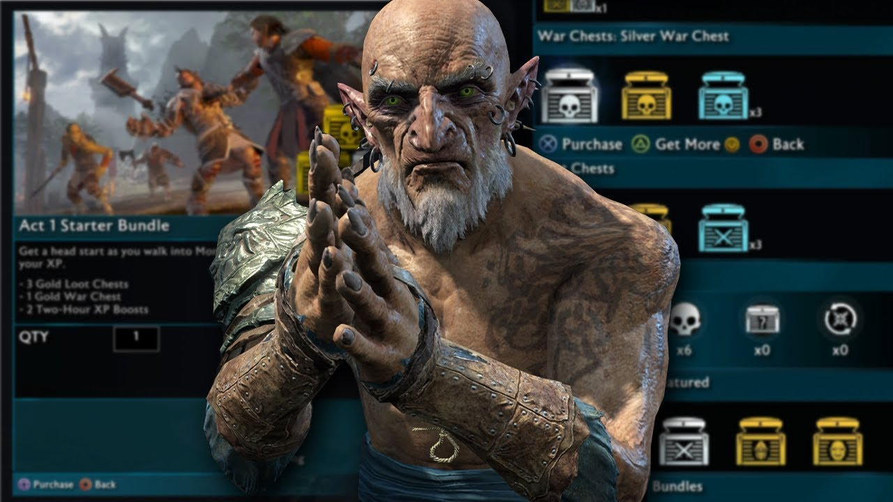 Shadow of War- Patch to Remove Microtransactions and Lootboxes Released