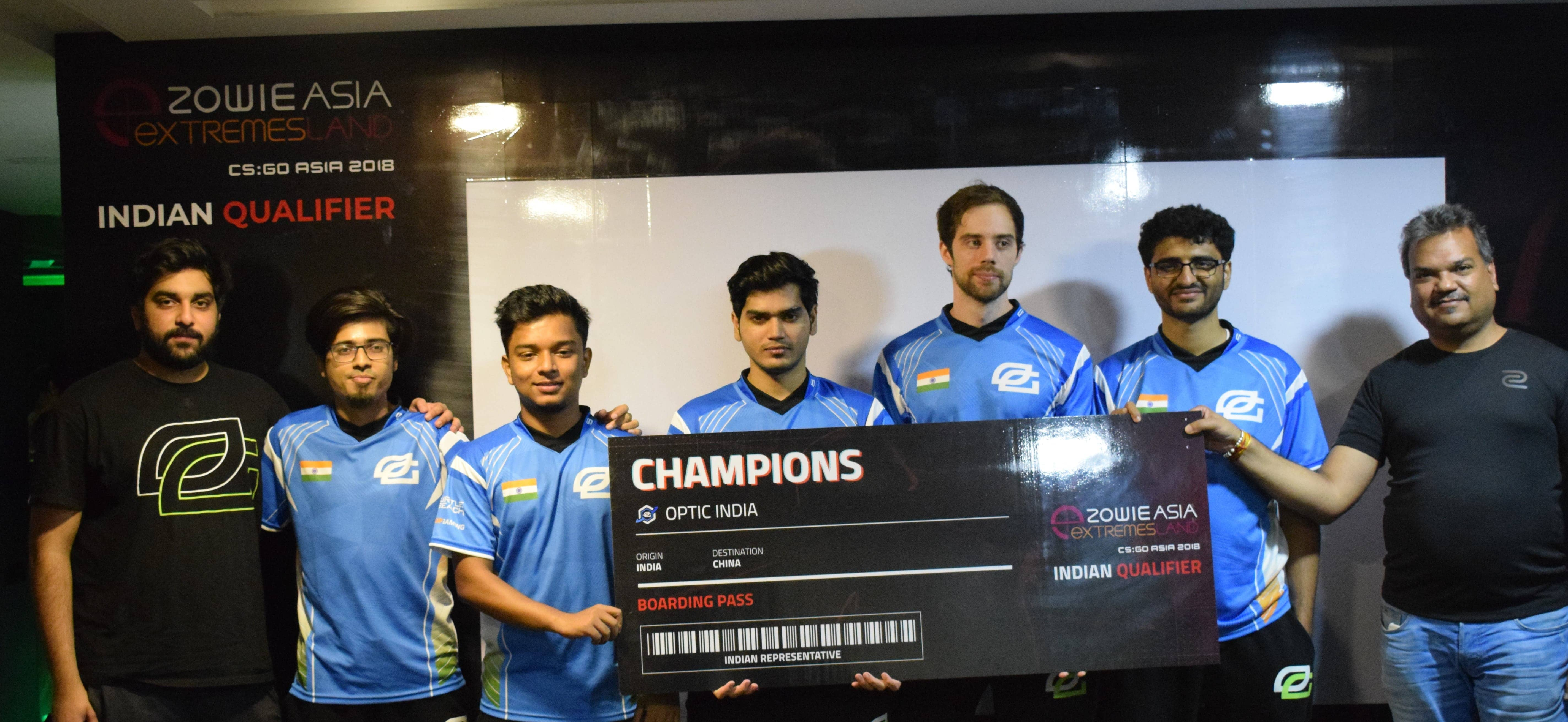 OpTic India Steamroll Their Way Into the Finals of ZOWIE Asia CSGO Extremesland 2018 at Shanghai
